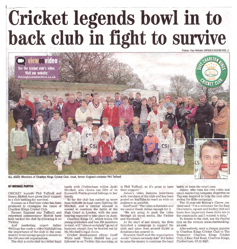 Charlton Kings Cricket Club faces closure