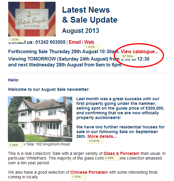 Link Activity for British Bespoke Auctions   next Thursday s Sale Catalogue   Expertise on Tap   Email Marketing Reports System